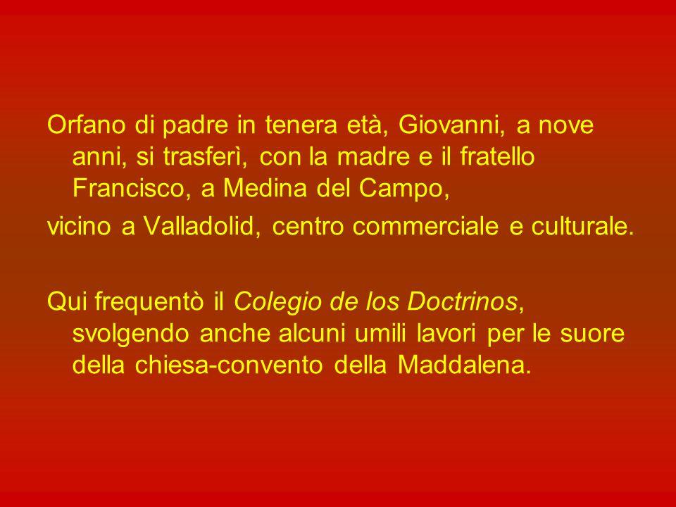 Giovanni della Croce nacque nel 1542 nel piccolo villaggio di Fontiveros, vicino ad Avila, nella Vecchia Castiglia, da Gonzalo de Yepes e Catalina Alvarez.