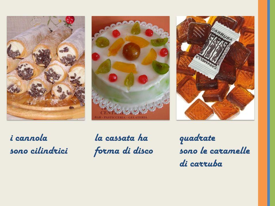 Cassata siciliana inventata dagli arabi, a base di pan di Spagna, crema di ricotta, frutta candita e variopinta.