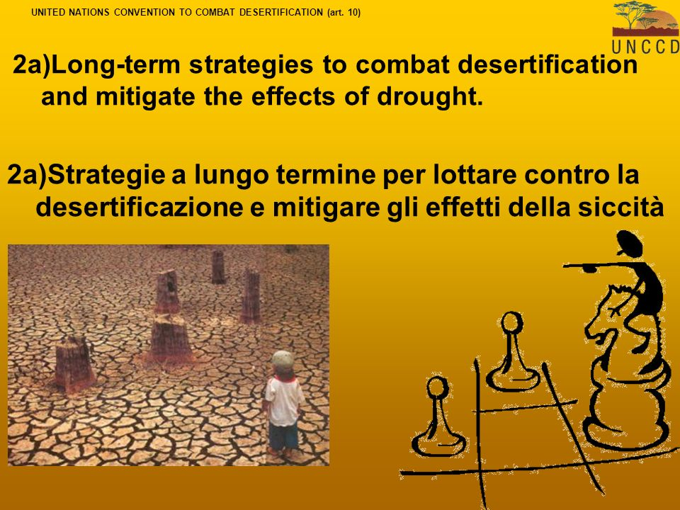 2a)Long-term strategies to combat desertification and mitigate the effects of drought.