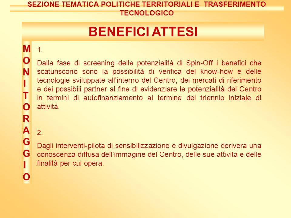 BENEFICI ATTESI 1.