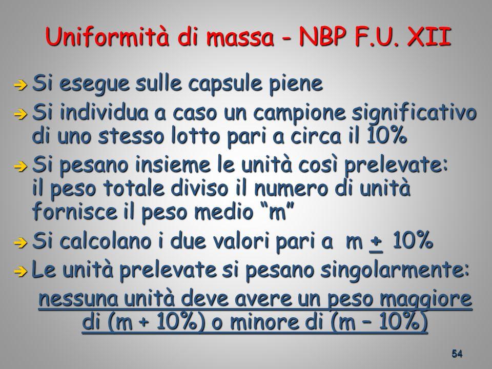 54 Uniformità di massa - NBP F.U.