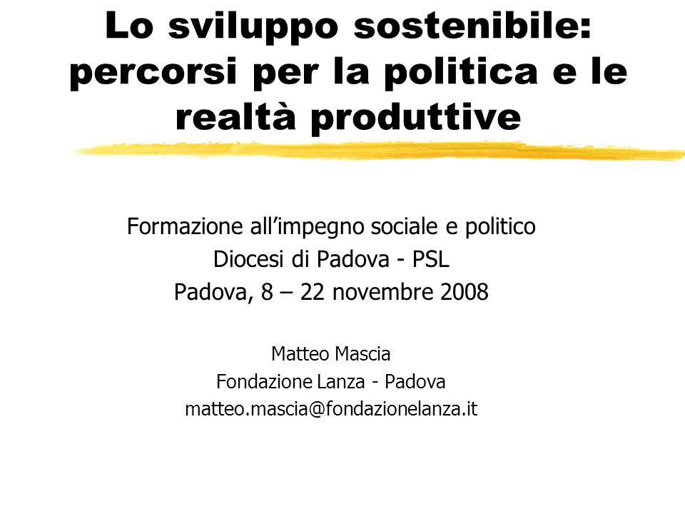 mmascia 8-22/11/200822 Politiche per la sostenibilità urbana z MIGLIORE MOBILITA, MENO TRAFFICO y ridurre la necessità del trasporto motorizzato privato e promuovere alternative valide e accessibili.