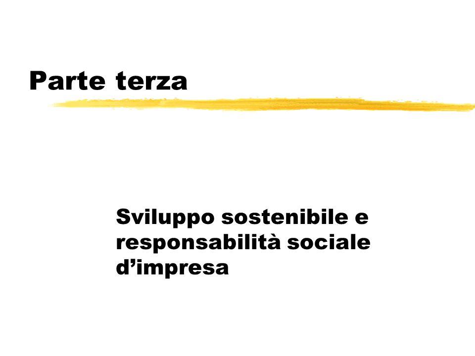 Parte terza Sviluppo sostenibile e responsabilità sociale dimpresa