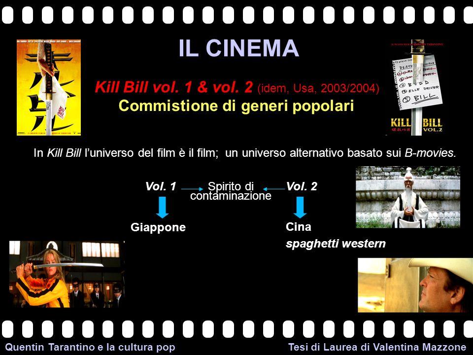 >>0 >>1 >> 2 >> 3 >> 4 >> Quentin Tarantino e la cultura pop Tesi di Laurea di Valentina Mazzone IL CINEMA Kill Bill vol. 1 & vol. 2 (idem, Usa, 2003/
