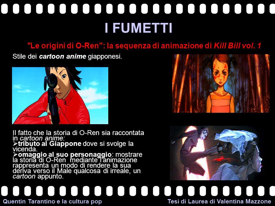 >>0 >>1 >> 2 >> 3 >> 4 >> Quentin Tarantino e la cultura pop Tesi di Laurea di Valentina Mazzone I FUMETTI Le origini di O-Ren : la sequenza di animazione di Kill Bill vol.
