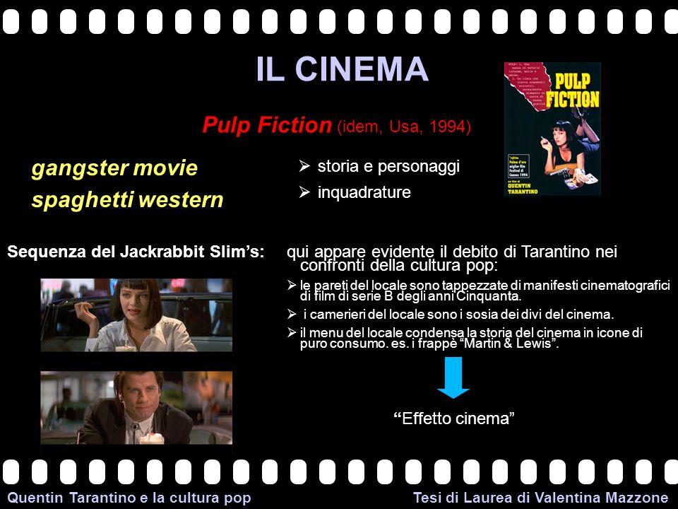 >>0 >>1 >> 2 >> 3 >> 4 >> Quentin Tarantino e la cultura pop Tesi di Laurea di Valentina Mazzone IL CINEMA Pulp Fiction (idem, Usa, 1994) gangster mov
