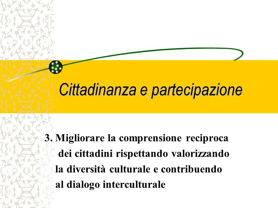 Cittadinanza e partecipazione 2. Sviluppare unidentità europea fondata sui valori, su una storia e una cultura comuni