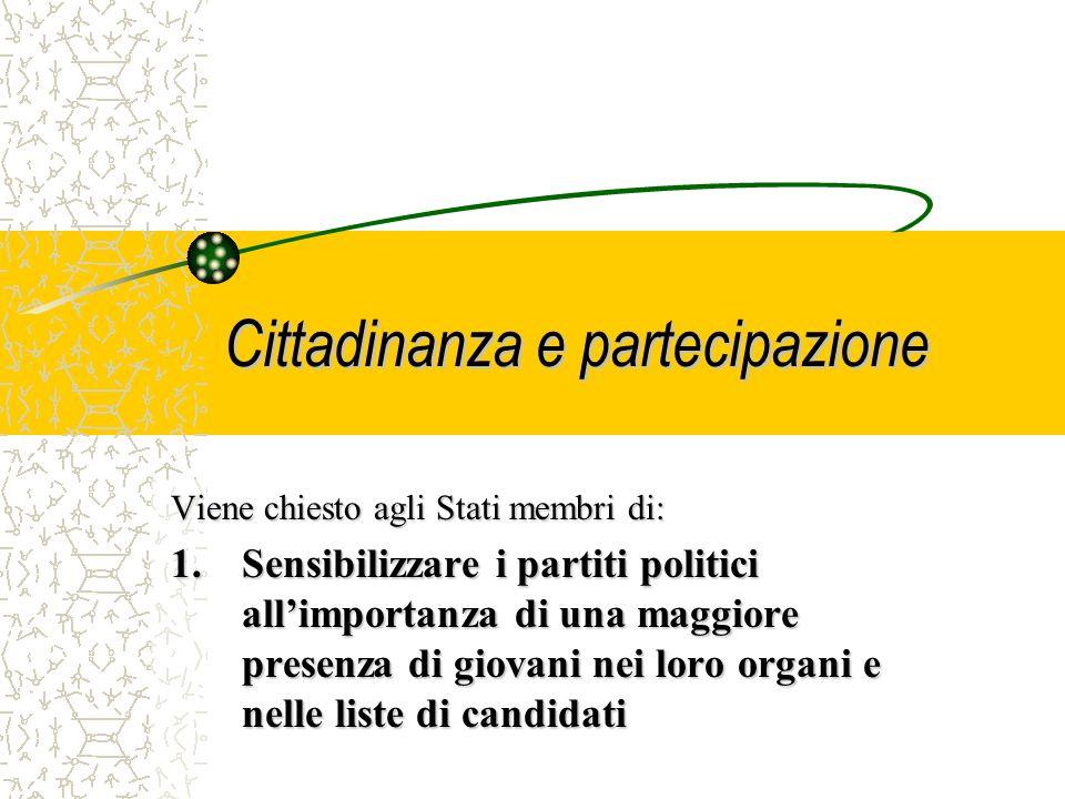 Cittadinanza e partecipazione 3.