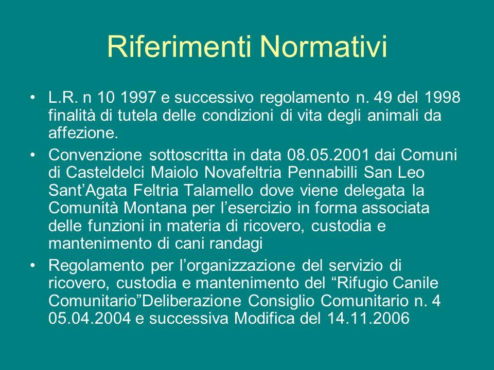 Riferimenti Normativi L.R. n 10 1997 e successivo regolamento n.