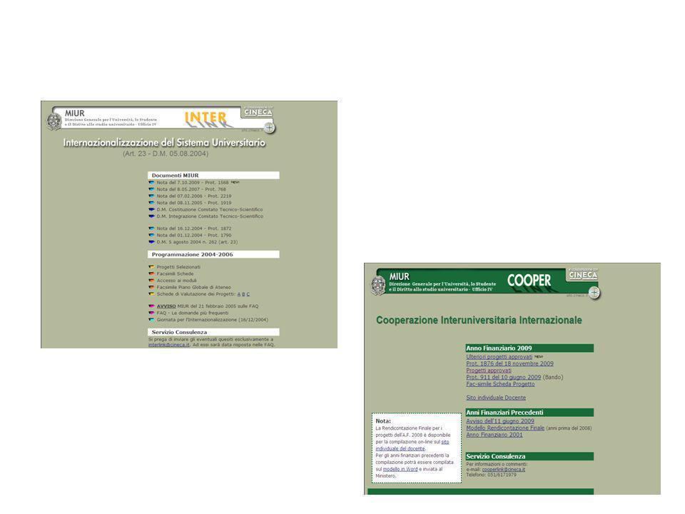 Alcuni risultati degli interventi del Piano 2001-03