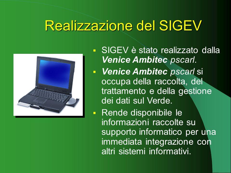 SIGEV è stato realizzato dalla Venice Ambitec pscarl.