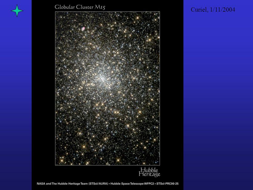 Curiel, 1/11/2004 Note: –Più brillante è una stella e più è piccola la sua magnitudine (fino ad essere addirittura negativa) –Sole = – 26.75 mag.