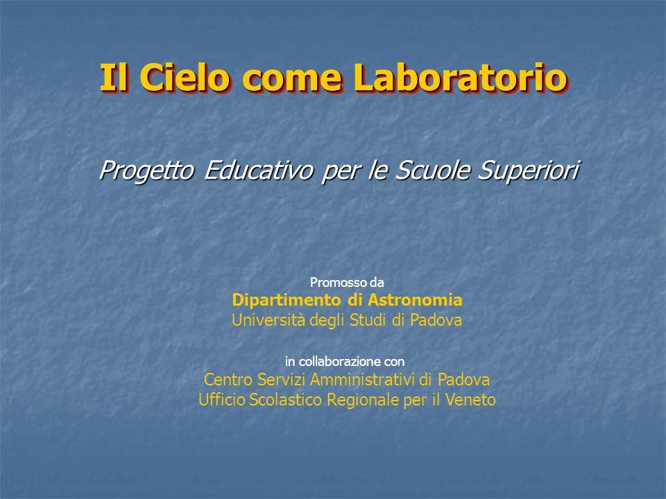 Il Cielo come Laboratorio Progetto Educativo per le Scuole Superiori Promosso da Dipartimento di Astronomia Università degli Studi di Padova in collab