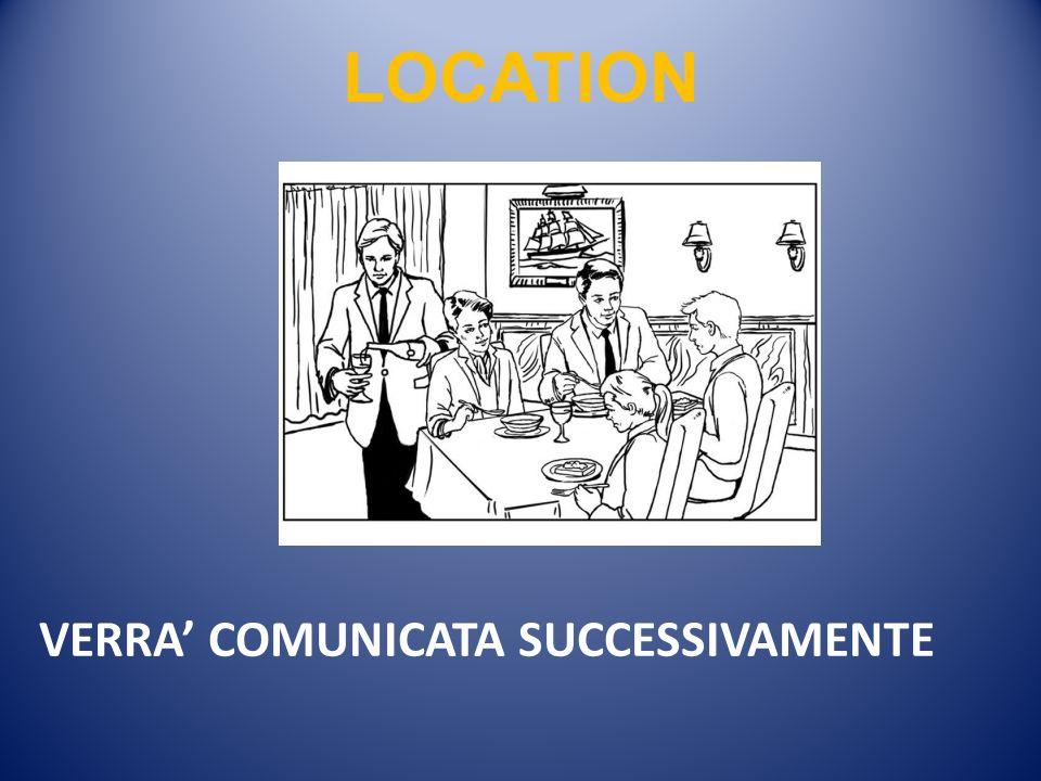 VERRA COMUNICATA SUCCESSIVAMENTE LOCATION