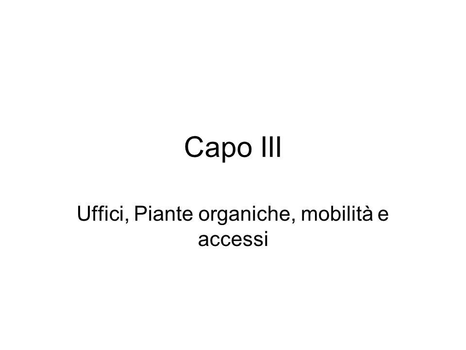 Capo III Uffici, Piante organiche, mobilità e accessi