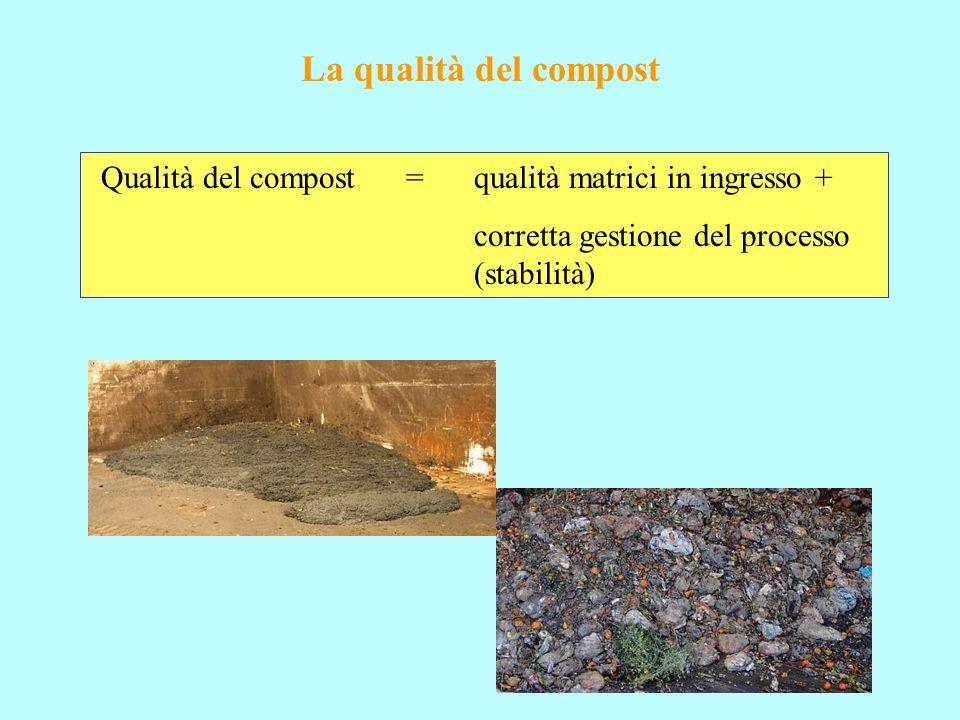 Problematica degli inerti: approfondimento diverse classi merceologiche nel compost finito problemi legati alla metodica analitica e alla def.