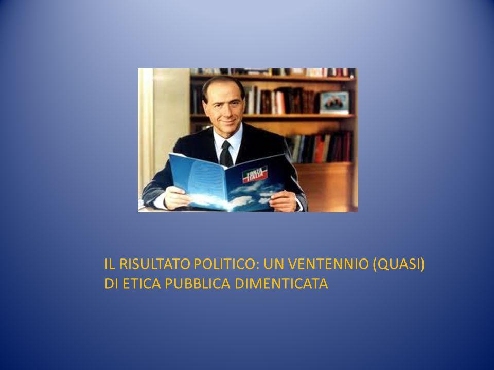 IL RISULTATO POLITICO: UN VENTENNIO (QUASI) DI ETICA PUBBLICA DIMENTICATA