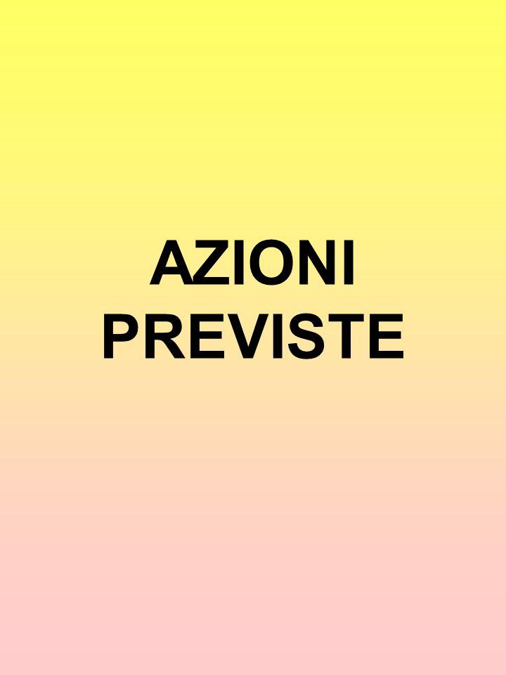 AZIONI PREVISTE