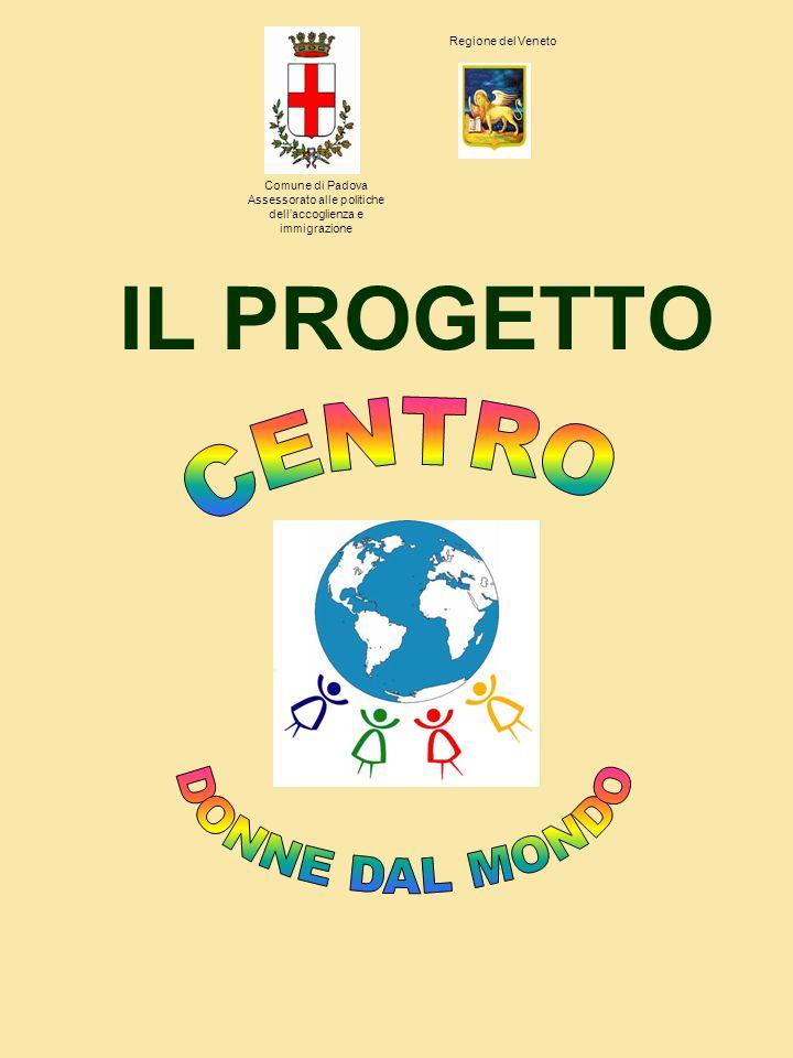 IL PROGETTO Comune di Padova Assessorato alle politiche dellaccoglienza e immigrazione Regione del Veneto