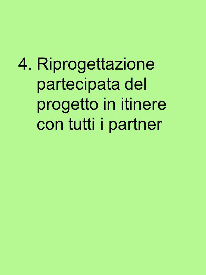 4.Riprogettazione partecipata del progetto in itinere con tutti i partner