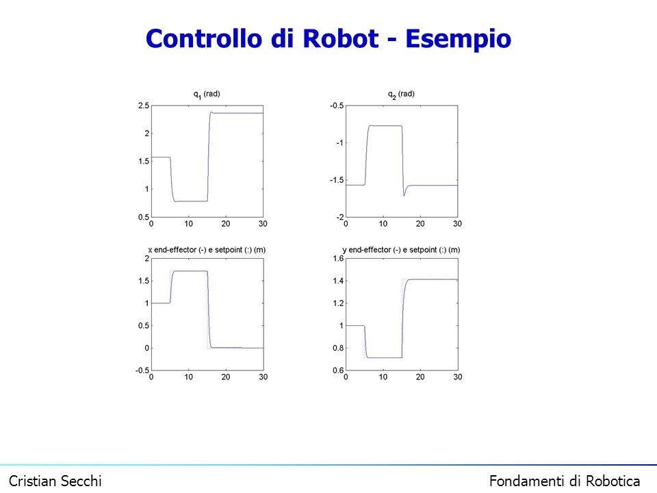 Cristian Secchi Fondamenti di Robotica Controllo di Robot - Esempio