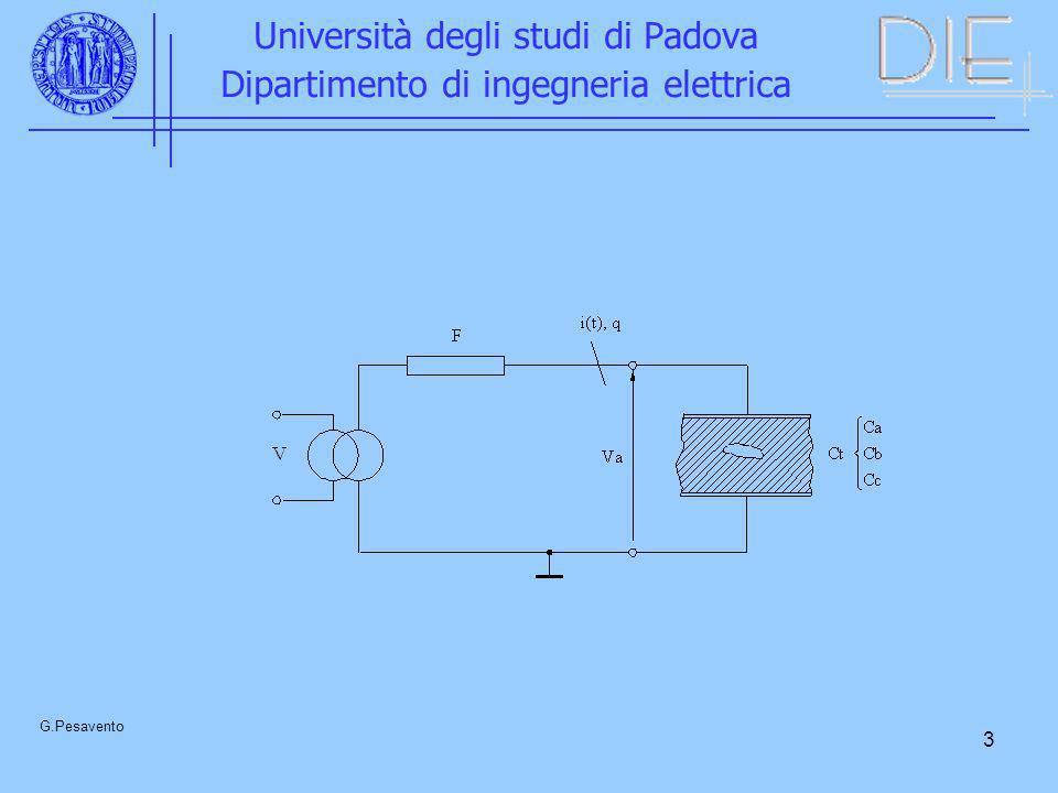 3 Università degli studi di Padova Dipartimento di ingegneria elettrica G.Pesavento