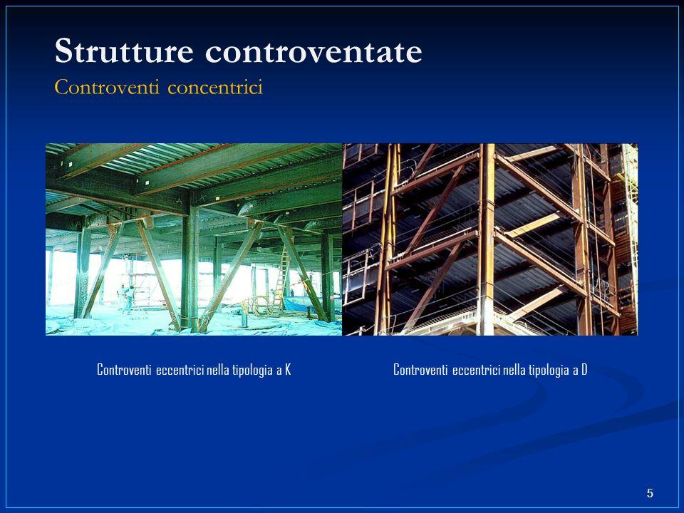Strutture controventate Controventi concentrici Controventi eccentrici nella tipologia a KControventi eccentrici nella tipologia a D 5