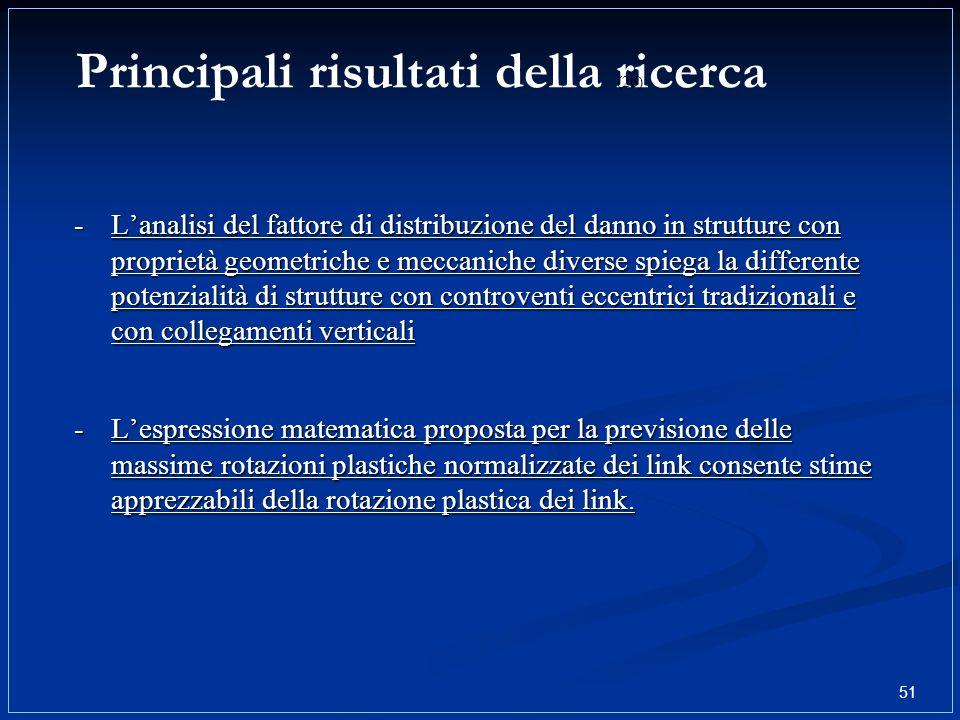 Principali risultati della ricerca 51 (26) -Lespressione matematica proposta per la previsione delle massime rotazioni plastiche normalizzate dei link