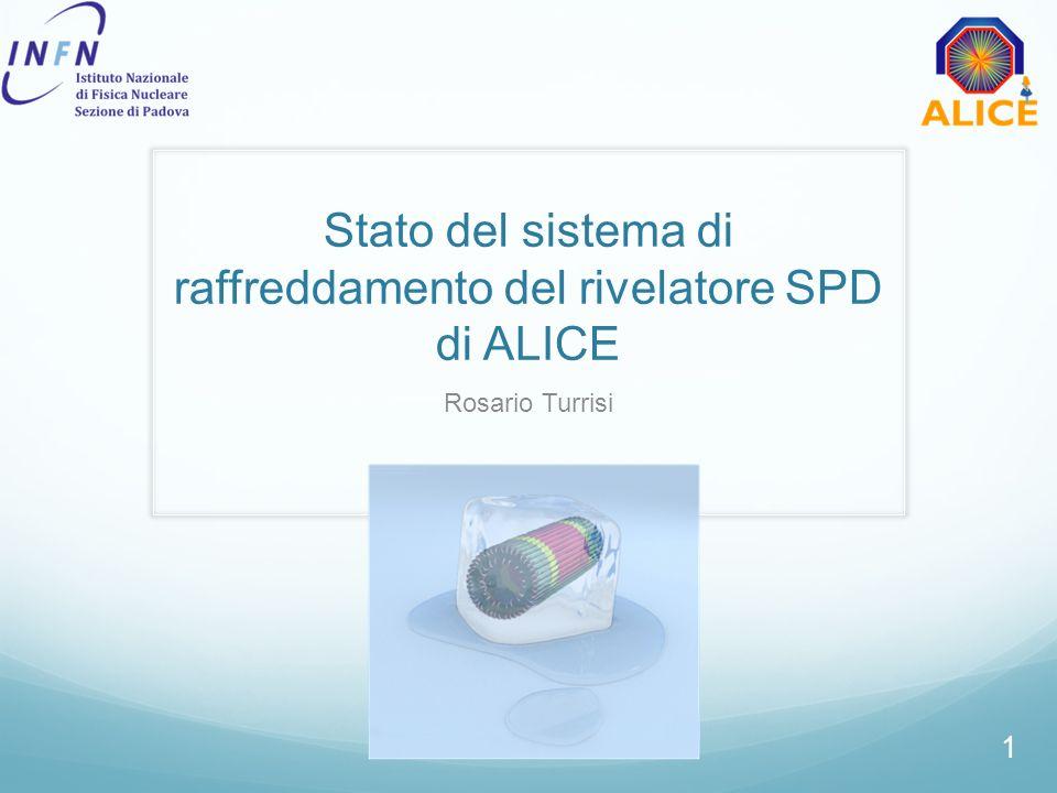 Stato del sistema di raffreddamento del rivelatore SPD di ALICE Rosario Turrisi 1