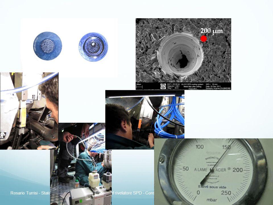 Rosario Turrisi - Stato del sistema di raffreddamento del rivelatore SPD - Consiglio di Sezione 9 Luglio 2012 9 200 μm