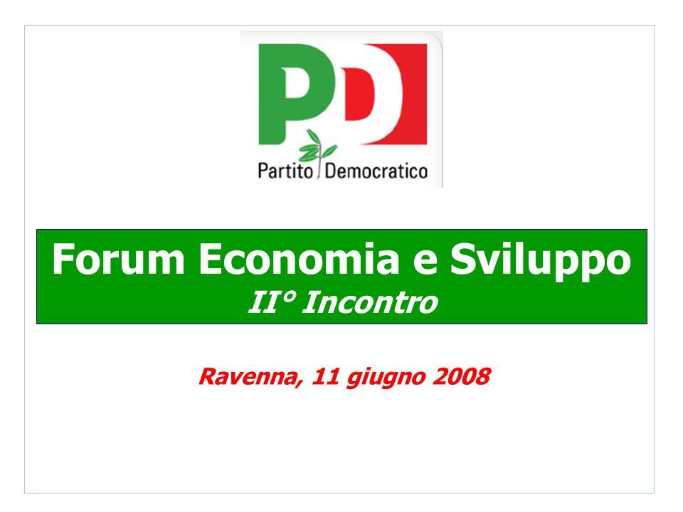 Forum Economia e Sviluppo II° Incontro Ravenna, 11 giugno 2008
