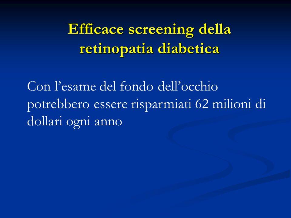 Con lesame del fondo dellocchio potrebbero essere risparmiati 62 milioni di dollari ogni anno Efficace screening della retinopatia diabetica