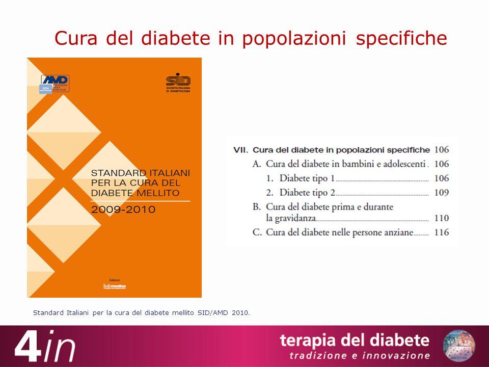 Cura del diabete in popolazioni specifiche Standard Italiani per la cura del diabete mellito SID/AMD 2010.