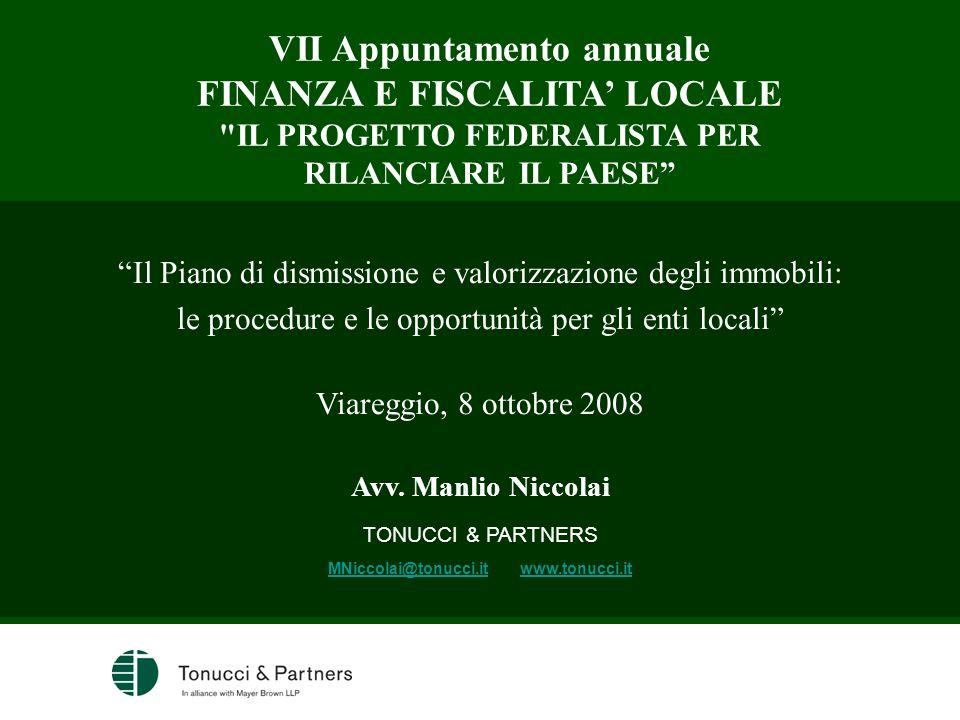 VII Appuntamento annuale FINANZA E FISCALITA LOCALE