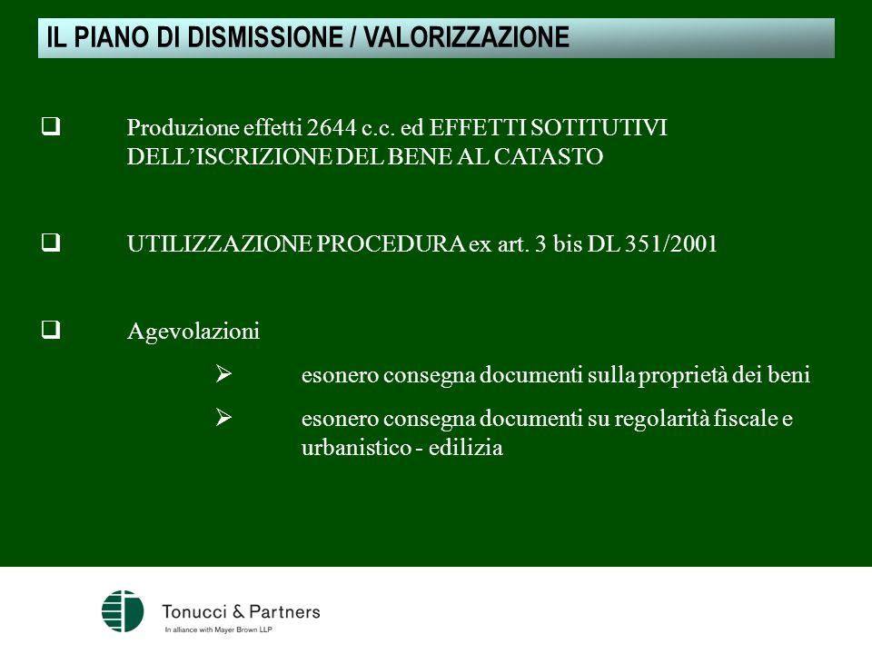 Produzione effetti 2644 c.c. ed EFFETTI SOTITUTIVI DELLISCRIZIONE DEL BENE AL CATASTO UTILIZZAZIONE PROCEDURA ex art. 3 bis DL 351/2001 Agevolazioni e