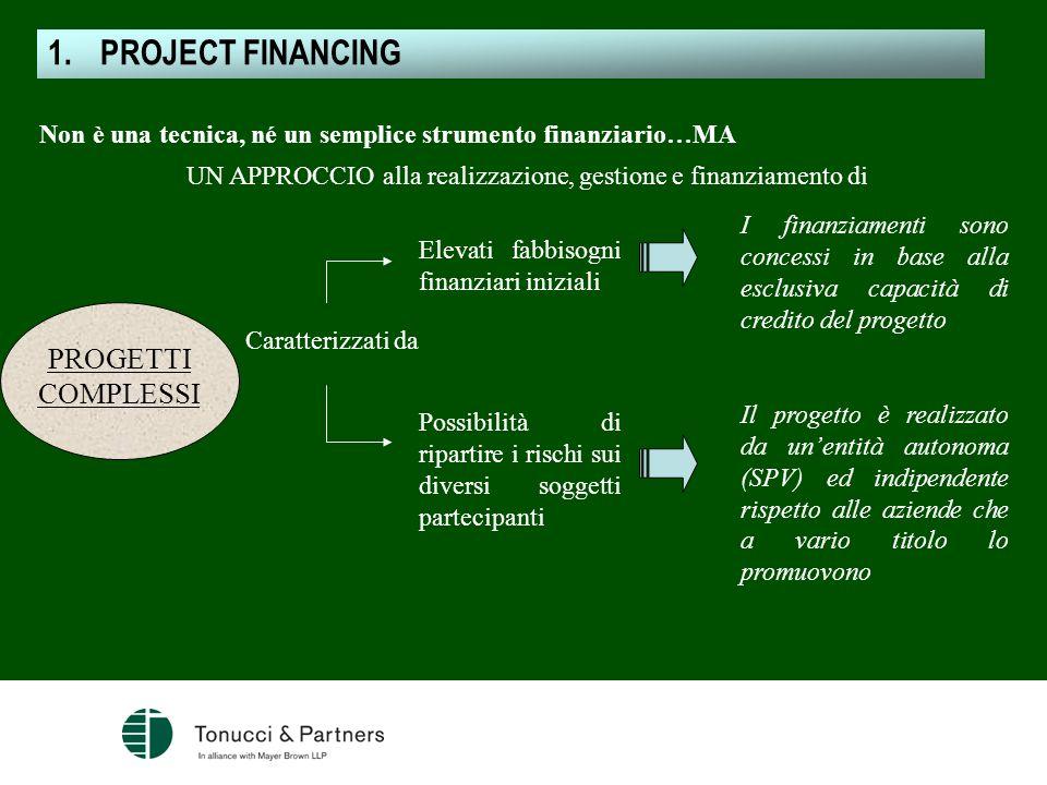 Non è una tecnica, né un semplice strumento finanziario…MA UN APPROCCIO alla realizzazione, gestione e finanziamento di PROGETTI COMPLESSI Caratterizz