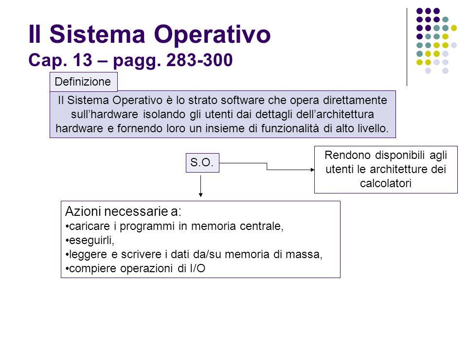 Il Sistema Operativo Cap. 13 – pagg.