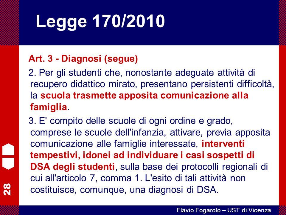 28 Flavio Fogarolo – UST di Vicenza Art.3 - Diagnosi (segue) 2.