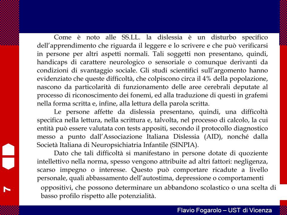 48 Flavio Fogarolo – UST di Vicenza È necessario che la diagnosi venga consegnata con un atto formale.