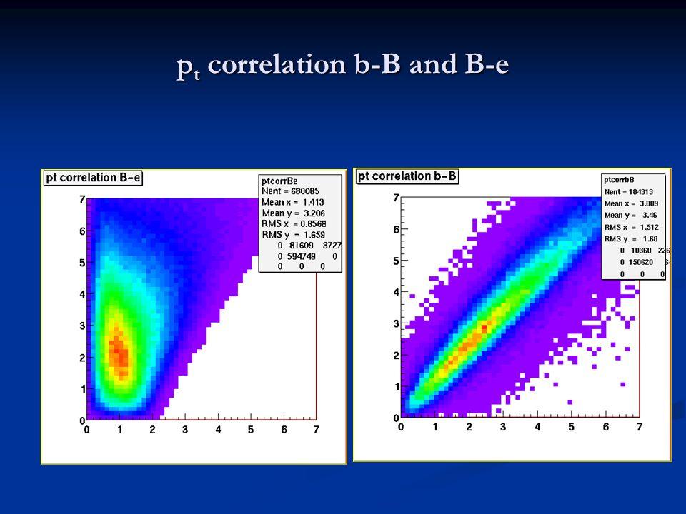 p t correlation b-B and B-e