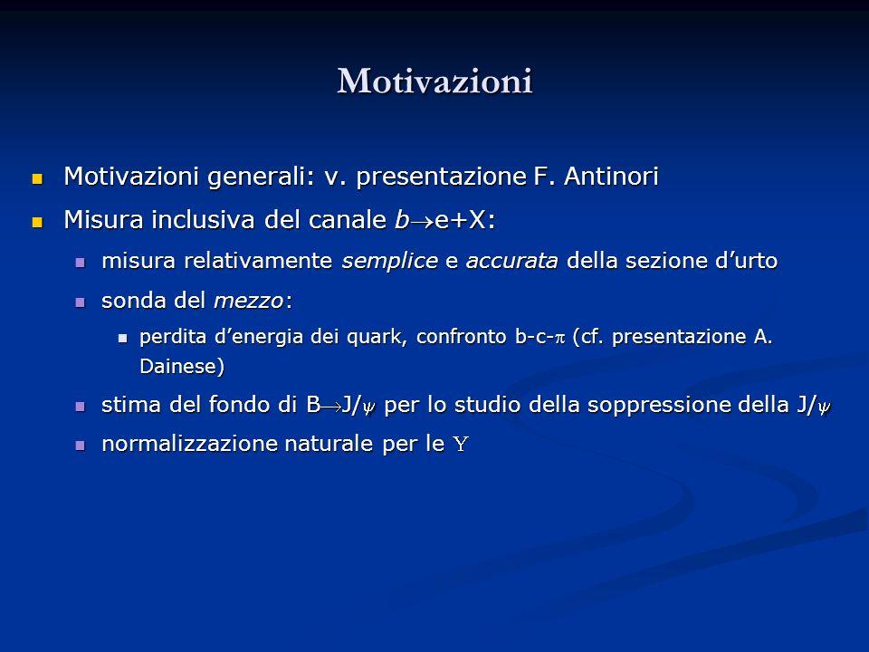 Motivazioni Motivazioni generali: v. presentazione F. Antinori Motivazioni generali: v. presentazione F. Antinori Misura inclusiva del canale be+X: Mi