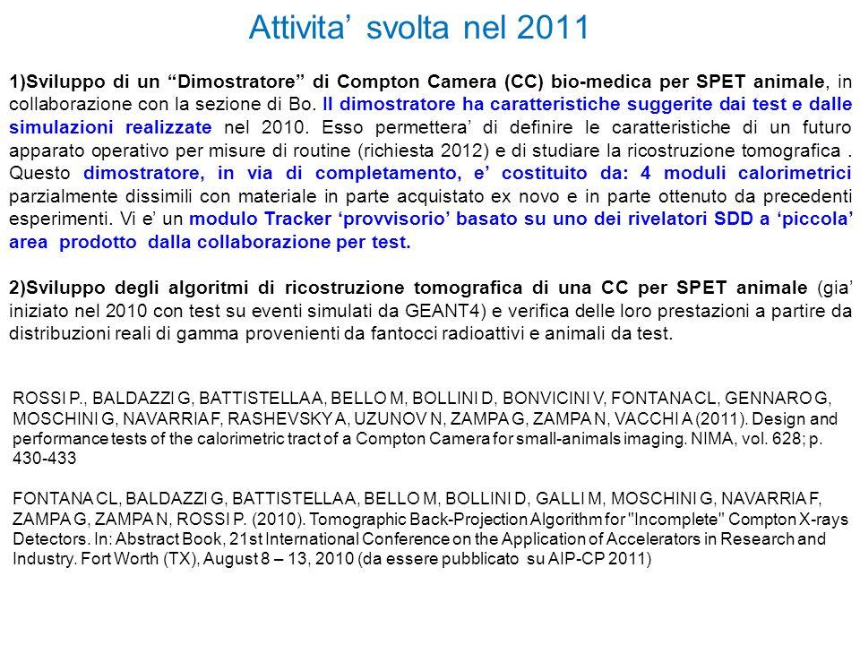 Estensione 2012- Padova (A)CAM.COMPTON (CC) OPERATIVA per IMAGING PICCOLI ANIMALI (5 mod.
