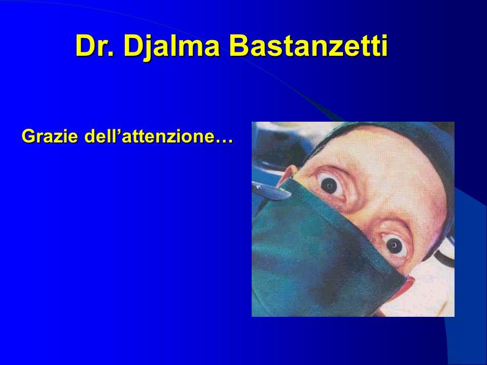 Dr. Djalma Bastanzetti Grazie dellattenzione…