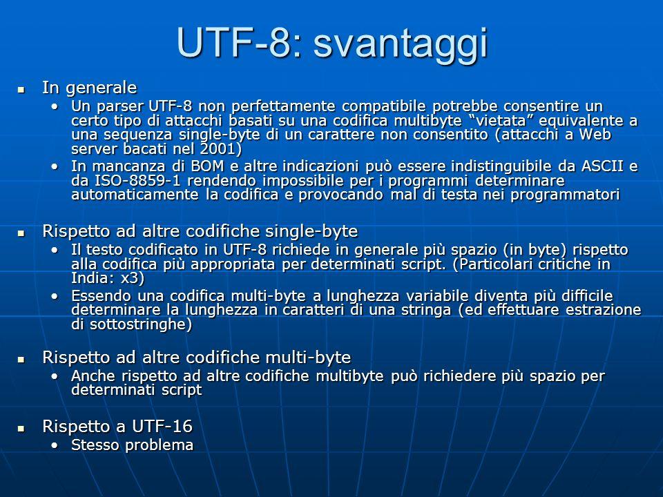 UTF-8: codepage layout