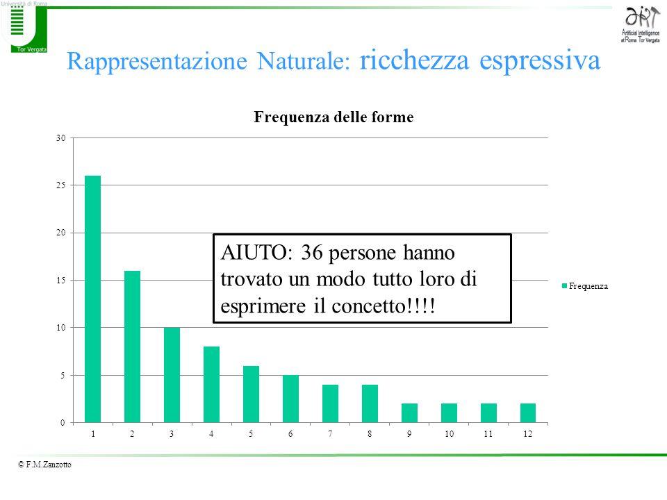 © F.M.Zanzotto Rappresentazione Naturale: ricchezza espressiva AIUTO: 36 persone hanno trovato un modo tutto loro di esprimere il concetto!!!!