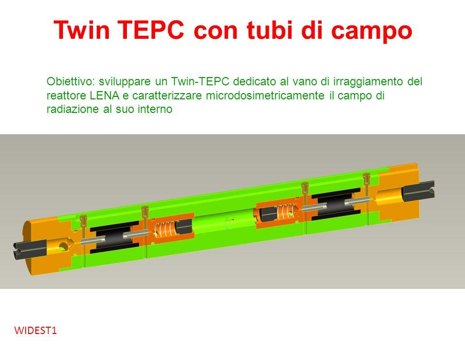 Twin TEPC con tubi di campo Obiettivo: sviluppare un Twin-TEPC dedicato al vano di irraggiamento del reattore LENA e caratterizzare microdosimetricame