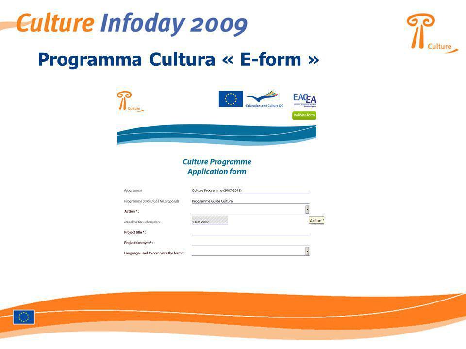 Programma Cultura « E-form »