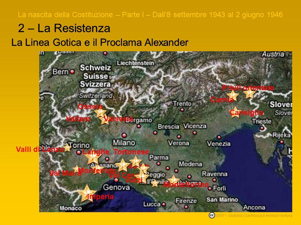 2 – La Resistenza Durante tutto linverno 1944/45 gli Alleati allentano la pressione lungo il fronte (se ne era aperto un altro ben più importante in F