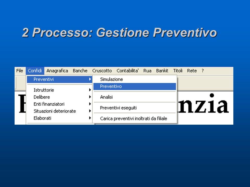 2 Processo: Gestione Preventivo