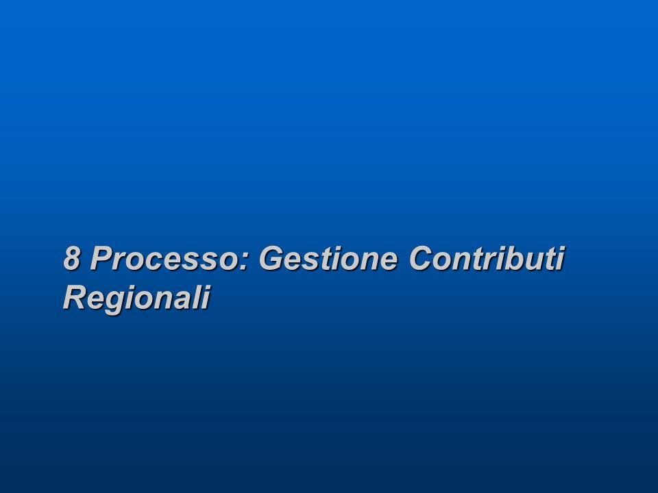 8 Processo: Gestione Contributi Regionali